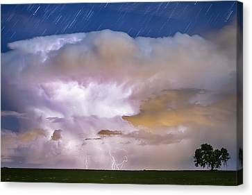 Dancing Thunderstorm Cell On The Horizon Canvas Print by James BO  Insogna