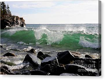 Dancing Waves Canvas Print by Sandra Updyke