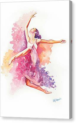 Dancing With Colors Canvas Print by Cindy Elsharouni
