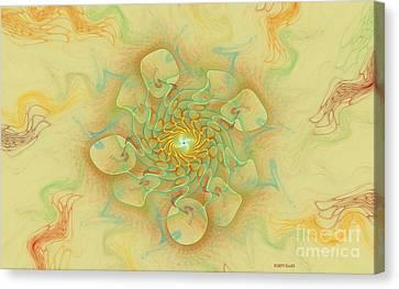 Dancing With The Spirits Canvas Print by Deborah Benoit