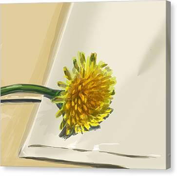 Dandelion Canvas Print by Jamie Lindenmeier
