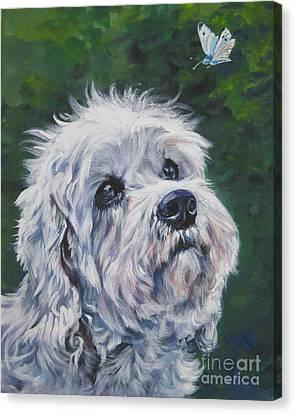Dandie Dinmont Terrier Canvas Print by Lee Ann Shepard