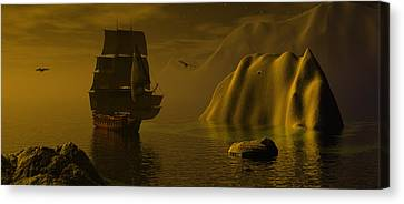 Dangerous Waters Canvas Print by Claude McCoy