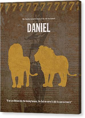 Daniel Books Of The Bible Series Old Testament Minimal Poster Art Number 27 Canvas Print by Design Turnpike