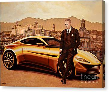 Daniel Craig As James Bond Canvas Print by Paul Meijering
