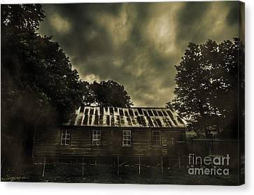 Dark Abandoned Barn Canvas Print by Jorgo Photography - Wall Art Gallery