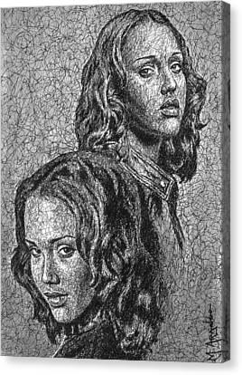 Dark Angel Canvas Print by Maria Arango