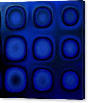 Dark Blue B Canvas Print by Patty Vicknair