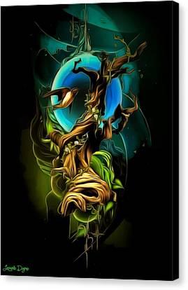 Dark Elements - Da Canvas Print by Leonardo Digenio