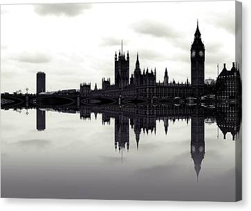 Dark Reflections Canvas Print by Sharon Lisa Clarke