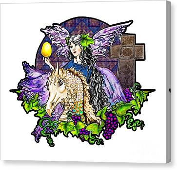 Dark Tales Of Fairy Eve And The Dragons Of Eden Canvas Print by Janice Moore