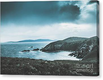 Dark Tense And Dramatic Sea Cliffs Canvas Print by Jorgo Photography - Wall Art Gallery