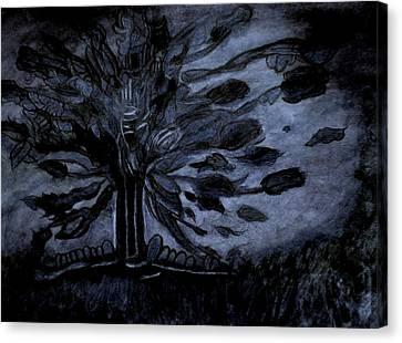 Dark Tree Canvas Print by Stephanie Zelaya