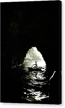 Darkest Waters Canvas Print by Cambion Art