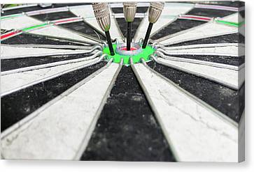 Dartboard Canvas Print by Tom Gowanlock
