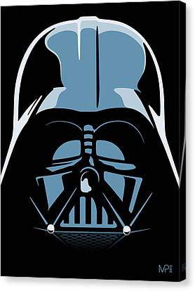 Star Canvas Print featuring the digital art Darth Vader by IKONOGRAPHI Art and Design