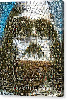 Darth Vader Mosaic Canvas Print by Paul Van Scott