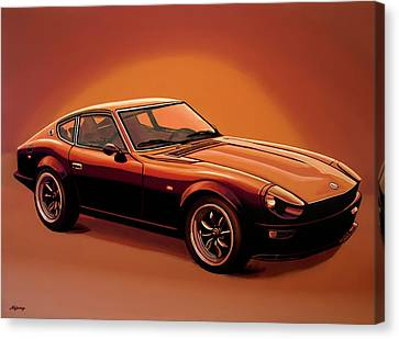 Datsun 240z 1970 Painting Canvas Print by Paul Meijering