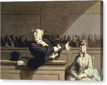 Daumier: Advocate, 1860 Canvas Print by Granger