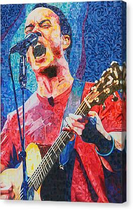 Dave Matthews Squared Canvas Print by Joshua Morton