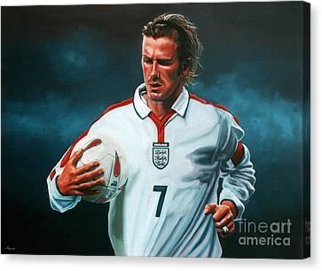 David Beckham Canvas Print by Paul Meijering