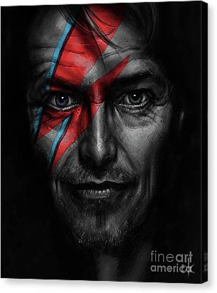 David Bowie Canvas Print by Andre Koekemoer