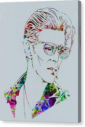David Bowie Canvas Print by Naxart Studio