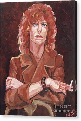 David Bowie Canvas Print by Kateryna  Bortsova