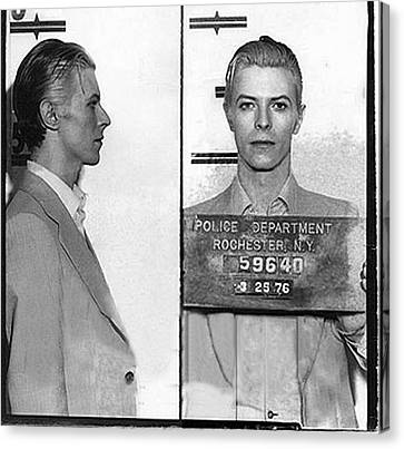 David Bowie Mug Shot Horizontal Canvas Print by Tony Rubino