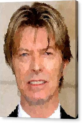 David Bowie Portrait Canvas Print by Samuel Majcen