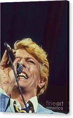 David Bowie Smiling Eye Canvas Print by Philippe Taka