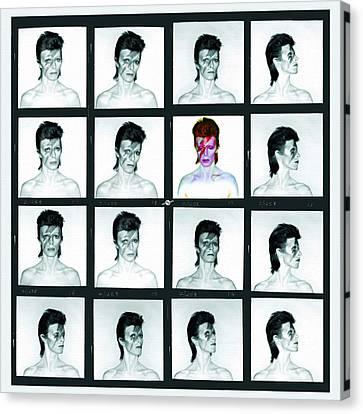 David Bowie Ziggy Stardust Painting 1 Canvas Print by Tony Rubino