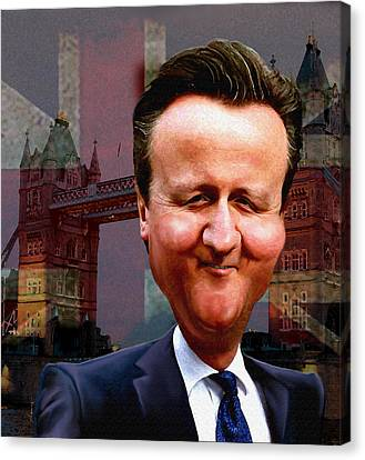 David Cameron Canvas Print by Hans Neuhart