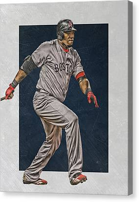 David Ortiz Boston Red Sox Art 2 Canvas Print by Joe Hamilton