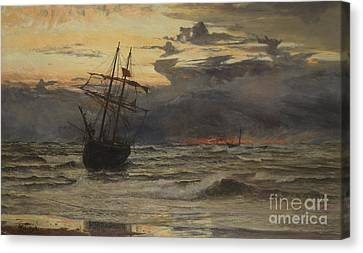 Dawn After The Storm Canvas Print by William Lionel Wyllie