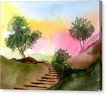 Dawn Canvas Print by Anil Nene