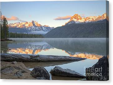 Dawn At Redfish Canvas Print by Idaho Scenic Images Linda Lantzy