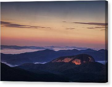 Dawn Over Looking Glass Rock Canvas Print by Andrew Soundarajan
