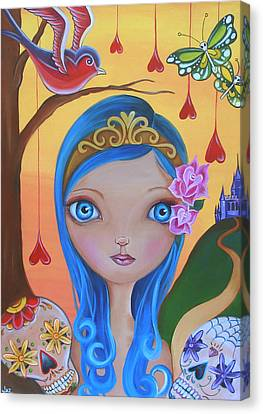 Day Of The Dead Princess Canvas Print by Jaz Higgins