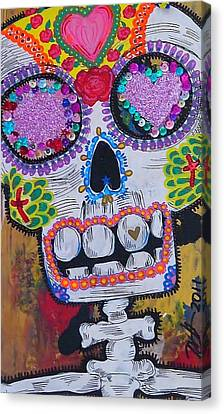 Day Of The Dead Skeleton  Canvas Print by Nancy Mitchell