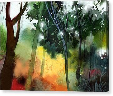 Daybreak Canvas Print by Anil Nene