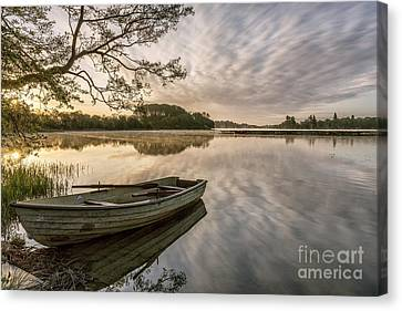 Daybreak Over Lake Of Menteith Trossachs Scotland Canvas Print by John Potter