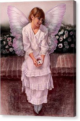 Daydreaming Fairy Girl Canvas Print by Sue Halstenberg