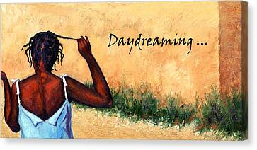 Daydreaming In Haiti Canvas Print by Janet King