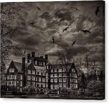 Daydreams Darken Into Nightmares Canvas Print by Evelina Kremsdorf
