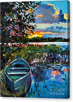 Days End Canvas Print by David Lloyd Glover