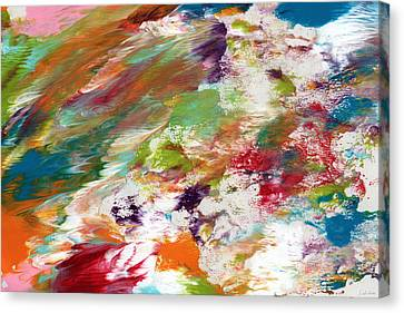 Days Gone By- Abstract Art By Linda Woods Canvas Print by Linda Woods