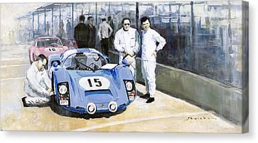 Daytona 1966 Porsche 906 Herrmann-linge Canvas Print by Yuriy  Shevchuk