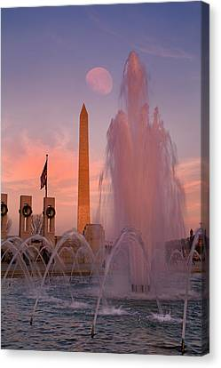 Dc Sunset Canvas Print by Betsy C Knapp