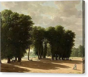 De Ingang Van Het Park Van St Cloud Te Parijs Canvas Print by Pieter Rudolph
